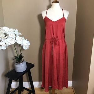 Banana Republic Slip Midi Dress Drawstring Waist
